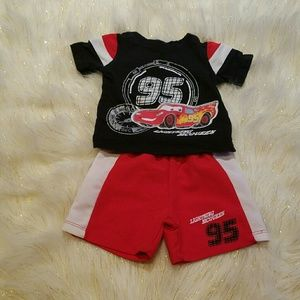 🌻Disney Baby Cars 3 Month Outfit Shirt and Shorts